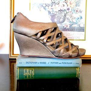 Eileen Fisher | Cage Wedge Heels